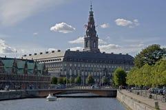 Castillo de la potencia - castillo de Christianborg Imágenes de archivo libres de regalías