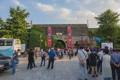 Castillo de la puerta de Nanjing China fotos de archivo