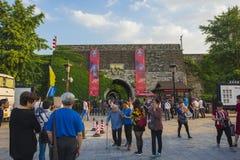 Castillo de la puerta de Nanjing China imagenes de archivo