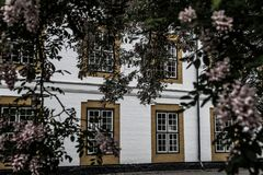 Castillo de la ranura de Augustenborg foto de archivo