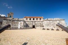 Castillo de la Real Fuerza, Havana, Cuba. Blue sky stock images