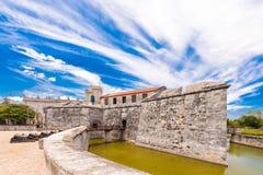 Castillo de la Real Fuerza, Havana, Cuba. Copy space for text. Royalty Free Stock Photo