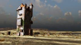 Castillo de la torre por el mar Fotografía de archivo libre de regalías