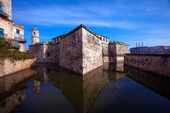 Castillo de la Verklig Fuerza, Havana, Kuba Arkivfoton