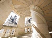 Castillo de las escaleras de Chambord, el valle del Loira Imagen de archivo libre de regalías