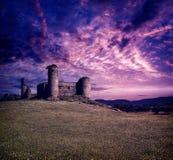 Castillo de las Torres castle by via de la Plata stock photos