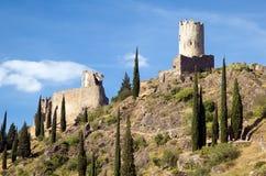 Castillo de Lastours 11 Foto de archivo