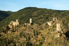 Castillo de Lastours 14 Foto de archivo
