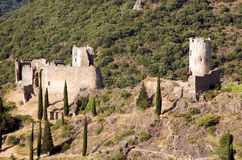 Castillo de Lastours 15 Fotos de archivo