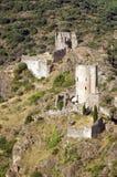 Castillo de Lastours 17 Foto de archivo libre de regalías
