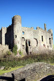 Castillo de Laugharne, País de Gales Foto de archivo libre de regalías