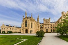 Castillo de Lednice en Moravia del sur foto de archivo libre de regalías