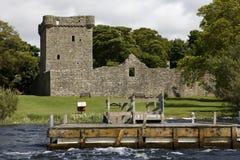 Castillo de Leven del lago Fotografía de archivo libre de regalías