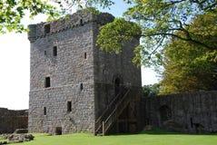 Castillo de Leven del lago Foto de archivo
