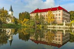 Castillo de Libochovice/República Checa Fotos de archivo
