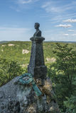 Castillo de Lichtenstein - busto y estatua en el parque Foto de archivo libre de regalías