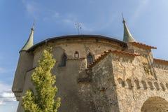 Castillo de Lichtenstein - edificio auxiliar con la torre Fotos de archivo