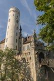 Castillo de Lichtenstein - puerta y puente levadizo de la entrada Foto de archivo libre de regalías