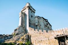 Castillo de Liechtenstein en Austria Foto de archivo