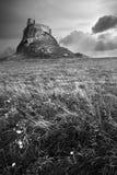 Castillo de Lindisfarne Imagen de archivo libre de regalías