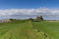 Castillo de Lindisfarne fotos de archivo