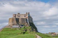 Castillo de Lindisfarne fotos de archivo libres de regalías