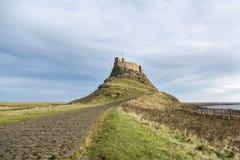 Castillo de Lindisfarne foto de archivo libre de regalías