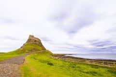 Castillo de Lindisfarne, isla santa foto de archivo