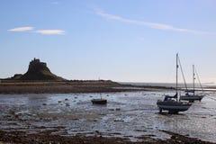 Castillo de Lindisfarne, isla santa, Northumberland Reino Unido fotografía de archivo libre de regalías