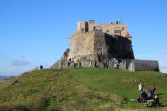 Castillo de Lindisfarne, isla santa, Northumberland Reino Unido foto de archivo