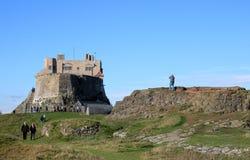 Castillo de Lindisfarne, isla santa, Northumberland Reino Unido imagen de archivo libre de regalías