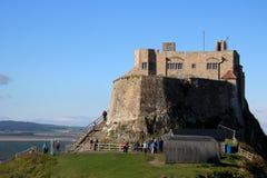 Castillo de Lindisfarne, isla santa, Northumberland Reino Unido fotos de archivo