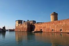Castillo de Livorno Imagen de archivo libre de regalías