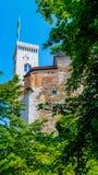 Castillo de Ljubljana Fotografía de archivo