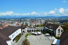 Castillo de Ljubljana en Eslovenia Fotografía de archivo libre de regalías