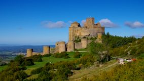 Castillo de Loarre near Huesca, Aragon stock footage