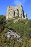 Castillo de Loarre tirado del valle Imagenes de archivo