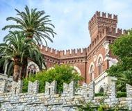 Castillo de los d'Albertis de Castello en Génova imagenes de archivo