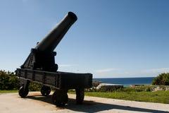 Castillo de los 3 reyes Cannon - La Habana - Cuba Imagen de archivo libre de regalías