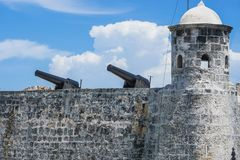 Castillo de los Tres Reyes del Morro is a fortress in Cuban Havana royalty free stock photography