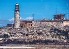 Castillo de Los Tres Reyes del Morro ist eine Festung auf Kubaner Havana stockbilder