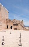 Castillo de Luna de la papá en Peniscola Imagenes de archivo