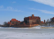 Castillo de Malbork de caballeros teutónicos Foto de archivo libre de regalías