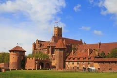 Castillo de Malbork en la región de Pomerania de Polonia fotos de archivo