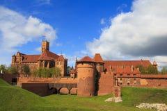 Castillo de Malbork en la región de Pomerania de Polonia foto de archivo