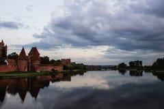 Castillo de Malbork en Polonia Foto de archivo