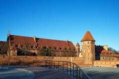 Castillo de Malbork en Polonia imagen de archivo libre de regalías