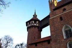 Castillo de Malbork en Polonia imágenes de archivo libres de regalías