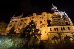 Castillo de Marburgo en la noche foto de archivo