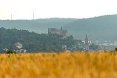 Castillo de Marburgo de lejos foto de archivo libre de regalías